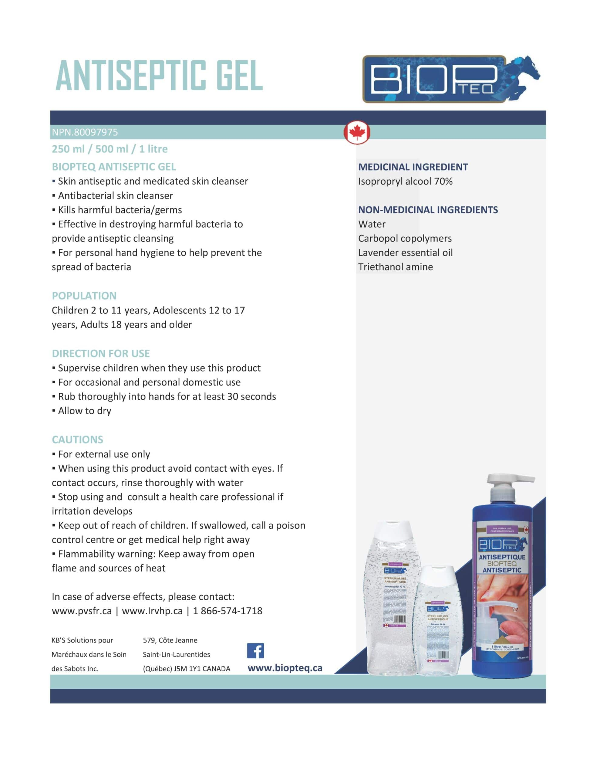 ANTISEPTIC GEL